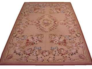 4X6 TAN Aubusson Needle Point Rug