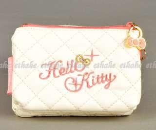 Hello Kitty Wallet Change Coin Purse Strap White EAGEK1