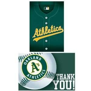 Oakland Athletics Baseball   Invitation and Thank You