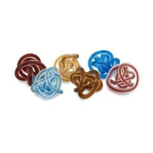 Knotted Glass Tabletop Desktop Paper Holder Accent   Set
