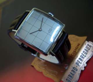 Distinctive Vintage Swiss Made GIRARD PERREGAUX Mens watch 1960s