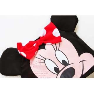 New Baby Toddler Girls 1 Pcs Minnie Mouse Swimsuit Swimwear w/Cap 1 6