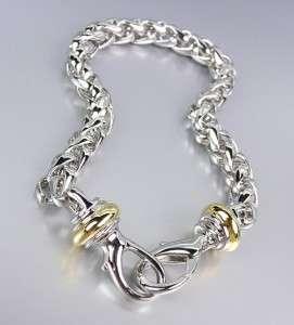 Designer Style Silver Wheat Chain Gold Silver Hook Bracelet