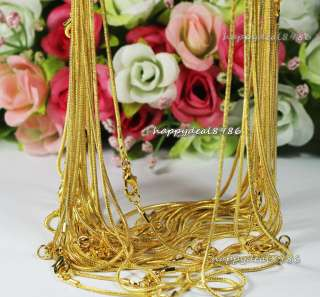 wholesale10pcs gold plated snake chain necklace 24