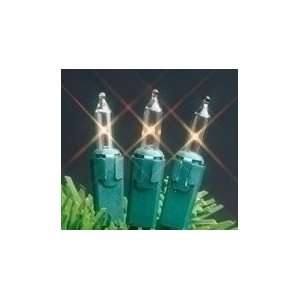 Replacement Clear Mini Christmas Light Bulbs & Green Bases #1668209
