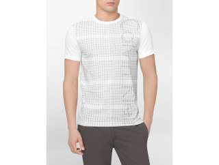 calvin klein mens body slim fit check graphic t shirt