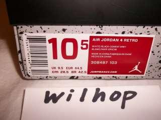 DS NIKE AIR JORDAN RETRO 4 CEMENT_2012 IV_OG MID_NEW GREY 1999 QS III