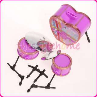 Shocking Pink Drum Set For Barbie Doll Great Heart Gift For Your Child