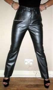 Sexy Silver PVC Trousers Jeans Size 12 Gun Metal Grey Glossy