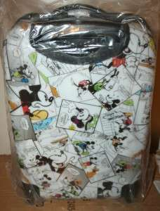 Authentic Mickey Mouse Cartoon Comic Hard Shell Luggage 20 NEW