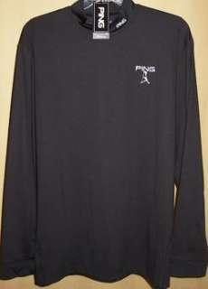 PING Tour Logo Knife Long Sleeve Mock Neck XXXL (Blk