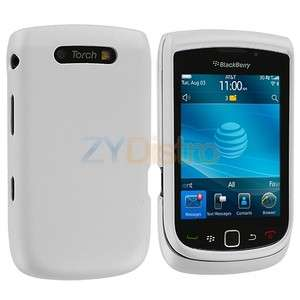 White Hard Skin Case Cover Accessory for Blackberry Torch 9800 9810
