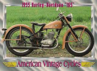 Vintage 1955 Harley Davidson Motorcycle 165 165cc One Cylinder Rare