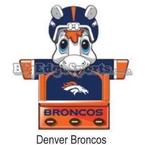 Denver Broncos 18 Mascot Bookshelf   NFL Football