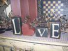 PRIMITIVE VALENTINE BLOCK SIGN~~LOVE~~HEART BLOCKS~~