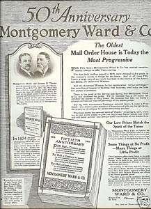 1922 Montgomery Ward Catalog AD~50th anniversary~20s