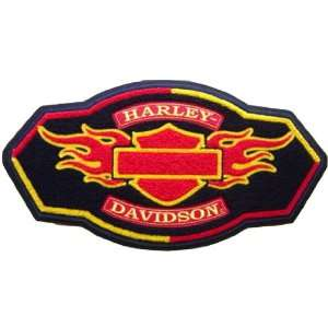 Harley Davidson Chenille Flames Patch (5xlarge