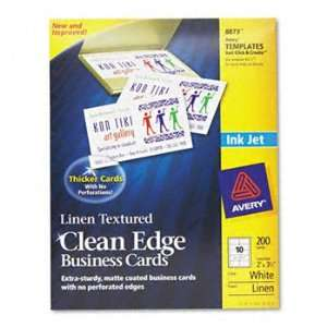New   Avery Clean Edge Inkjet Business Card   628608