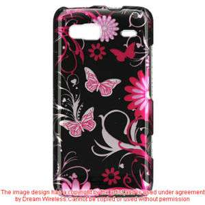 HTC T Mobile G2 Pink Butterfly Hard Case Phone Cover