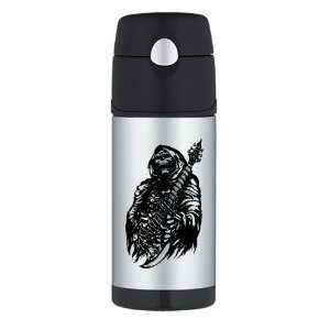 Water Bottle Grim Reaper Heavy Metal Rock Player