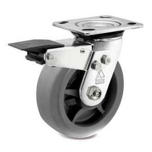 Bassick Prism Stainless Steel Total Lock Swivel Caster, Thermal