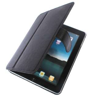 Premium Apple iPad PC Black Leather Case Skin Holiday Gifts Sale