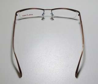 MIKLI 739 56 17 140 BROWN/BLUE HALF RIM RX EYEGLASSES/GLASSES/FRAMES
