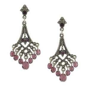 Morado Silver Purple Chandelier Earrings Jewelry
