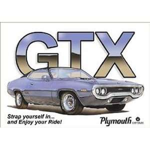 Chrysler Dodge Mopar Metal Tin Sign GTX Ride: Home & Kitchen