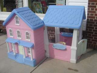 Little Tikes Doll House & Childs Play House Pink & White HTF My Size