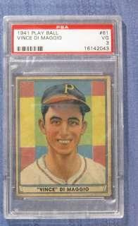 1941 Play Ball, #61,Vince DiMaggio, (SP) PSA 3,VG