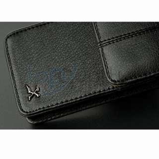 Black Belt Clip Case Black Leather Pouch Holster for AT&T Verizon