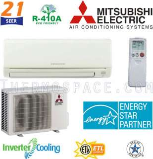 Mitsubishi MR. SLIM Ductless Mini Split Air Conditioner 21 SEER COOL