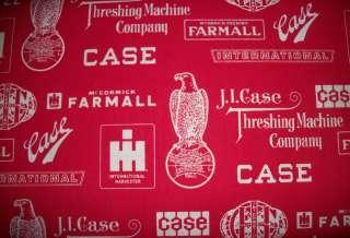 Harvester Case Farmall McCormick Deering Farm Tractor Fabric BTY