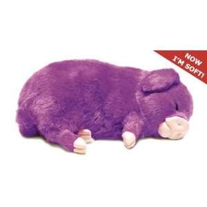 Perfect Petzzz Huggable Breathing Puppy Dog Purple Pig