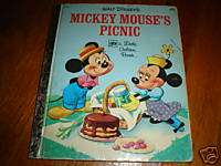 WALT DISNEYS MICKEY MOUSES PICNIC LITTLE GOLDEN BOOK
