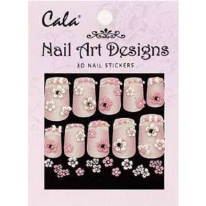 Cala Jeweled 3D Nail Art Stickers x2 Packs Flowers #86386 + Aviva Nail