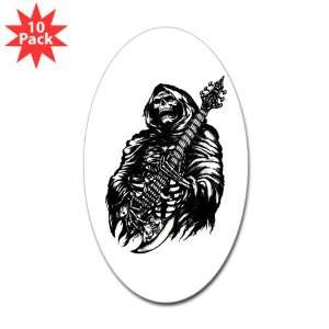 Oval) (10 Pack) Grim Reaper Heavy Metal Rock Player