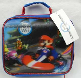 Nintendo Mario Kart Wii Lunch Box Bag Lenticular 3D MarioKart NEW