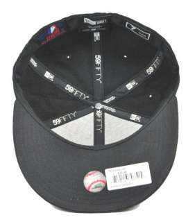 59FIFTY FITTED CAP ATLANTA BRAVES BLACK HAT MLB BASEBALL CAP