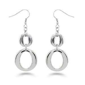 Stainless Steel Double Loop Earrings West Coast Jewelry