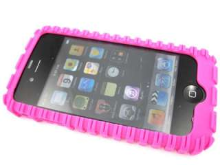 SILICON RUBBERIZED SOFT GEL SKIN CASE COVER APPLE IPHONE 4 4S TIRES