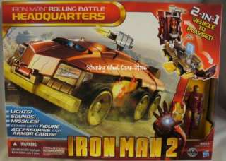 Iron Man 2 Rolling Battle Headquarters 2 in 1 vehicle to playset