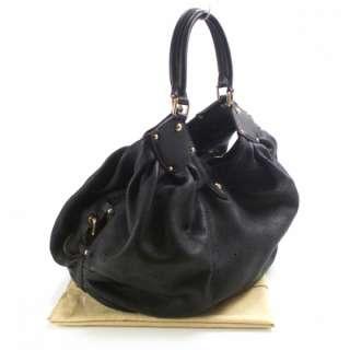LOUIS VUITTON Mahina L Shoulder Bag Tote Purse Black LV