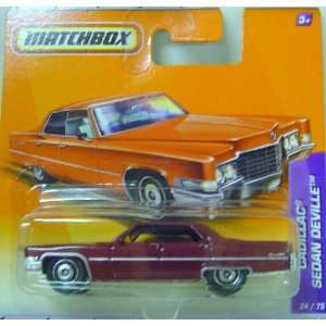 Matchbox Cars   Cadillac Sedan Deville In Red Toys
