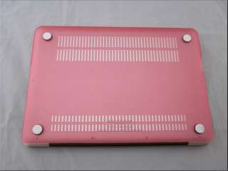 Pink rubberized hard case for new macbook pro 13+Keyboard cover