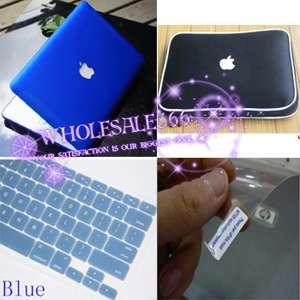 Blue Rubberized hard case cover 4in1 f MacBook Pro 13