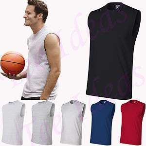 JERZEES   Mens Sleeveless Gym Sport T Shirt   49M S 3XL Sizes