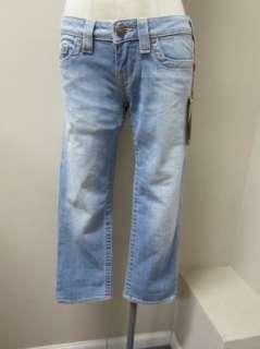 TRUE RELIGION Womens Lizzy Cuff Capri Jeans Jamestown NWT