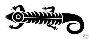 lizard gecko tribal vinyl decal auto sticker wall art